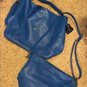 Nicole Miller blue 2 in 1 purse set!